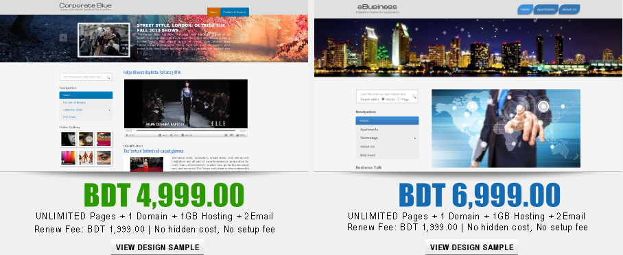 Best Dynamic Web Design Packages in Bangladesh